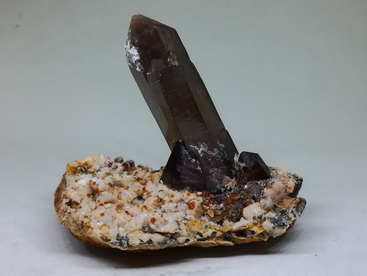 Eight face and crystal garnet mineral crystal gem stone ore material specimens,Quartz,Garnet