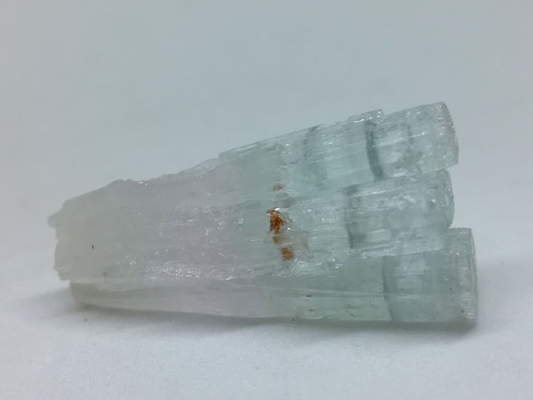 double color Aquamarine beryl Morgan Green Garnet gem stone wrapped ore mineral specimens,Aquamarine,Garnet